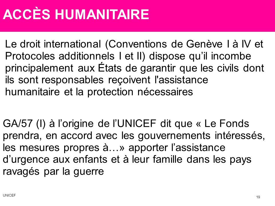 ACCÈS HUMANITAIRE