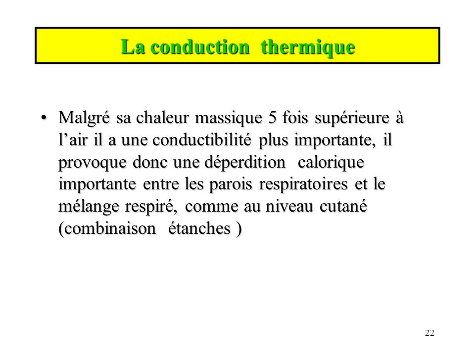 La conduction thermique