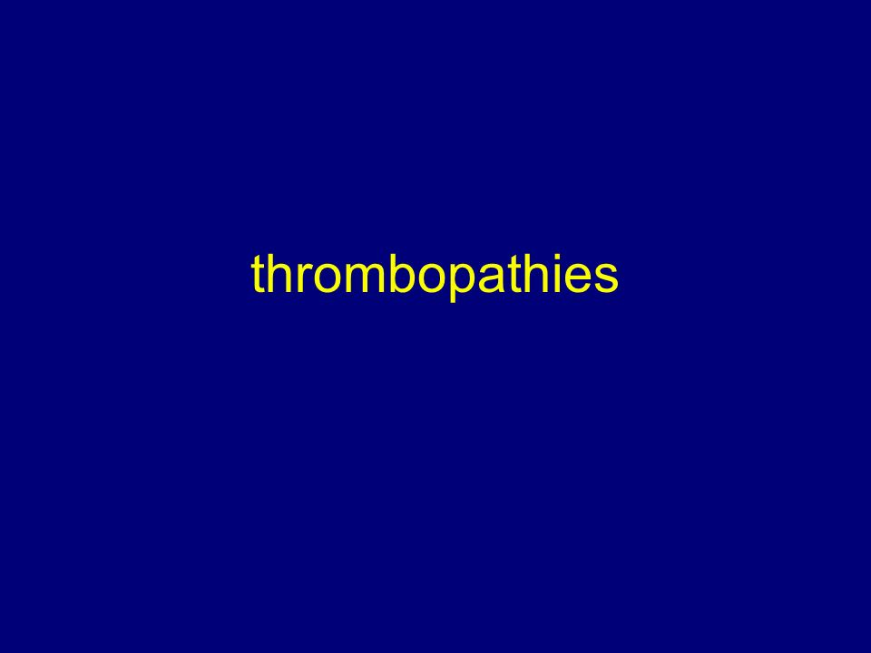 thrombopathies