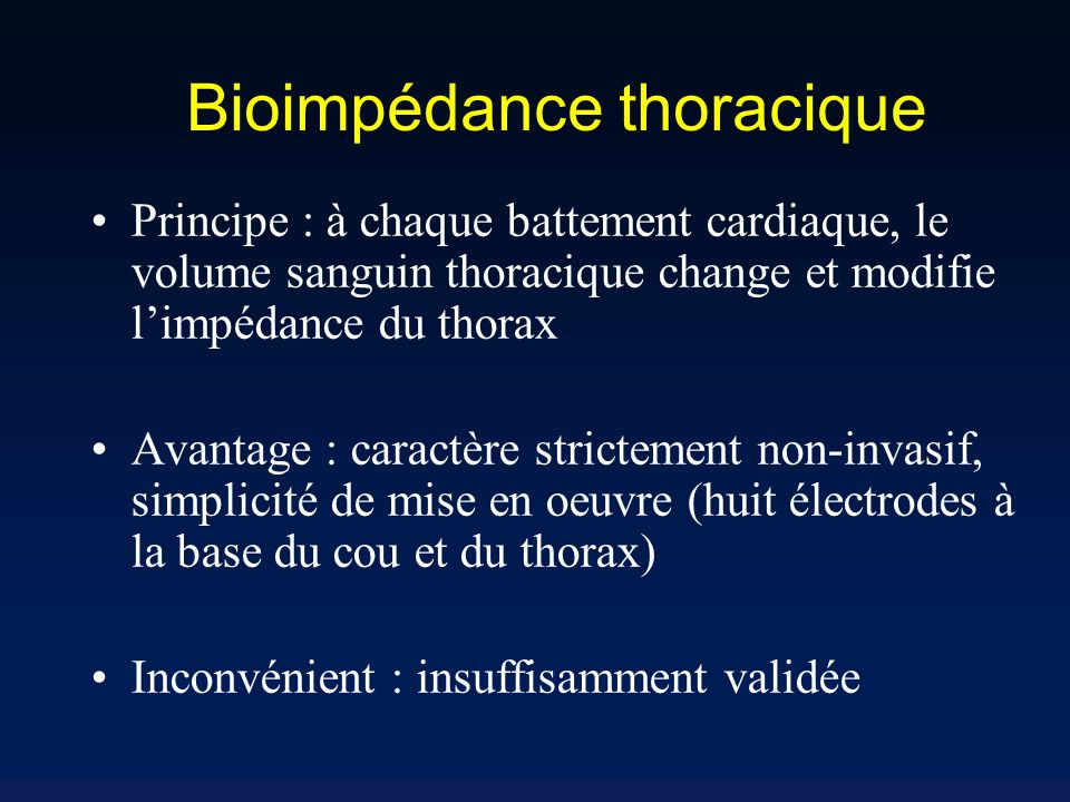 Bioimpédance thoracique