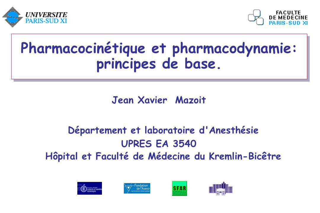 Pharmacocinétique et pharmacodynamie: principes de base.