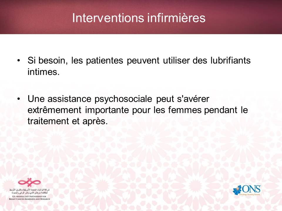 Interventions infirmières