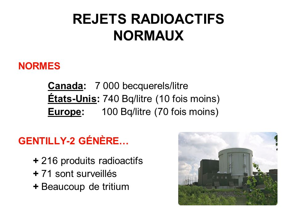 REJETS RADIOACTIFS NORMAUX