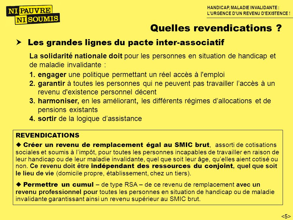 Quelles revendications