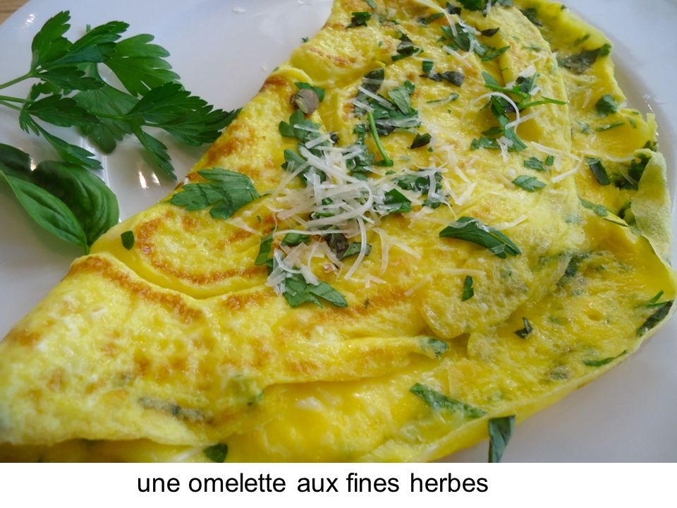 une omelette aux fines herbes