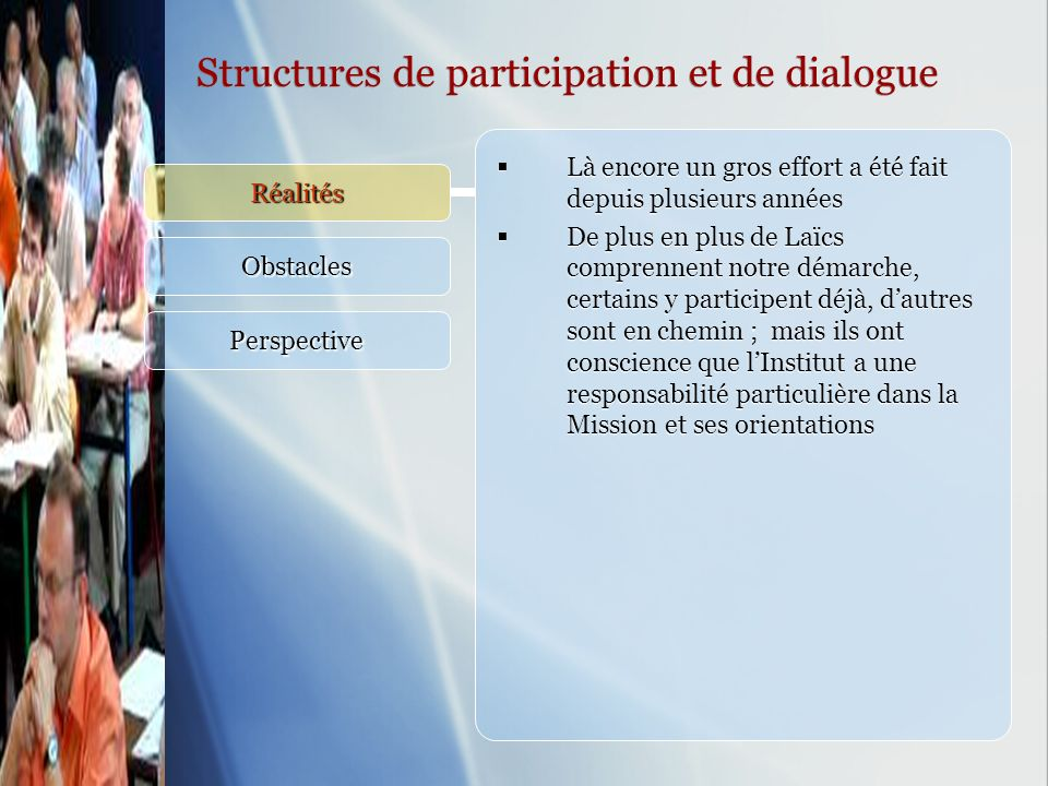 Structures de participation et de dialogue