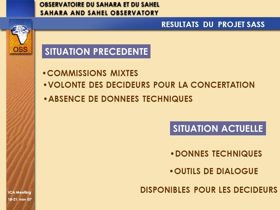 SITUATION PRECEDENTE SITUATION ACTUELLE COMMISSIONS MIXTES