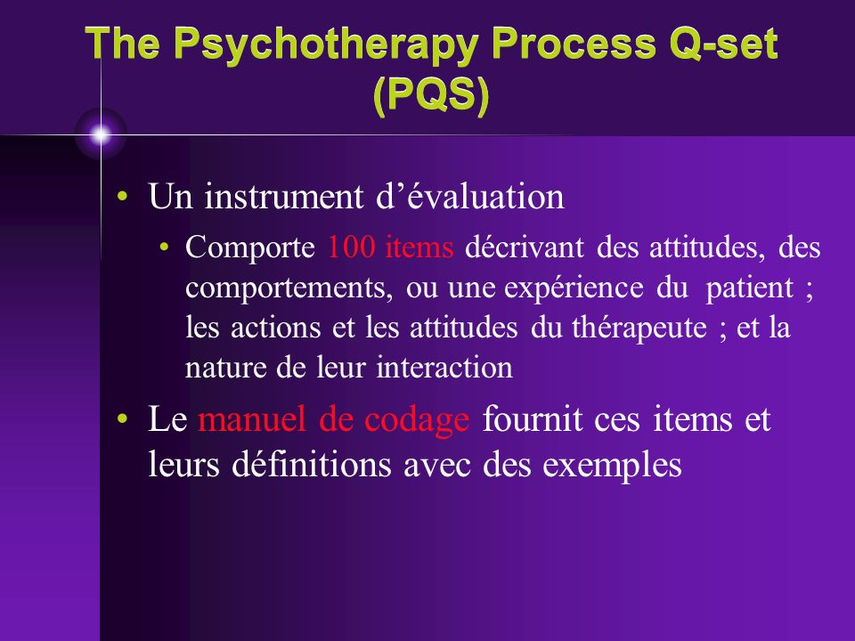 The Psychotherapy Process Q-set (PQS)