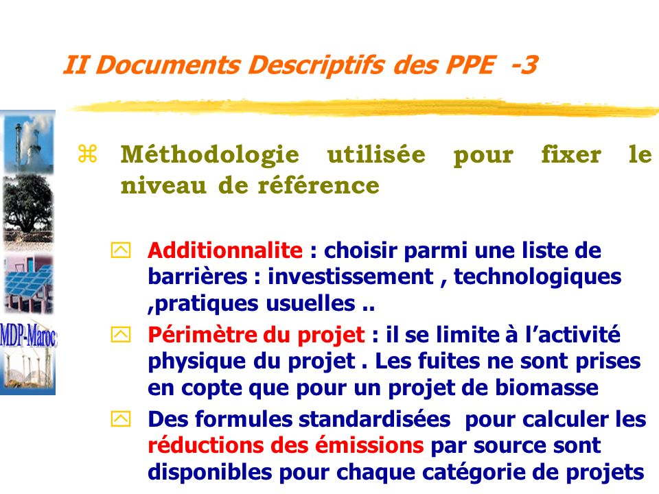II Documents Descriptifs des PPE -3