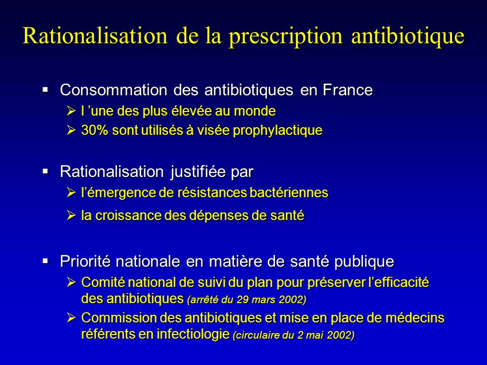 Rationalisation de la prescription antibiotique