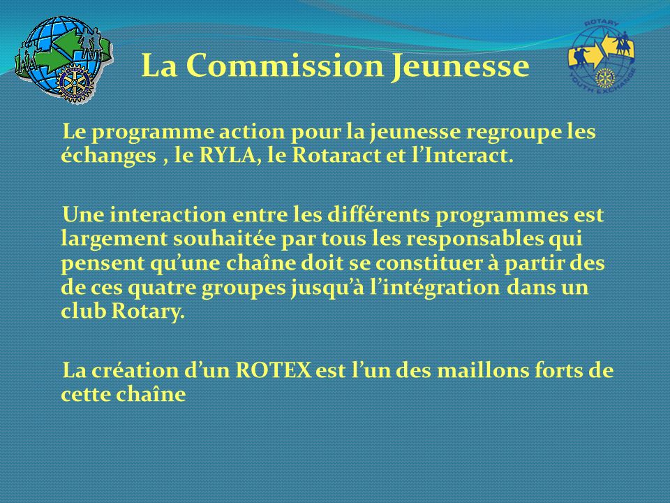 La Commission Jeunesse