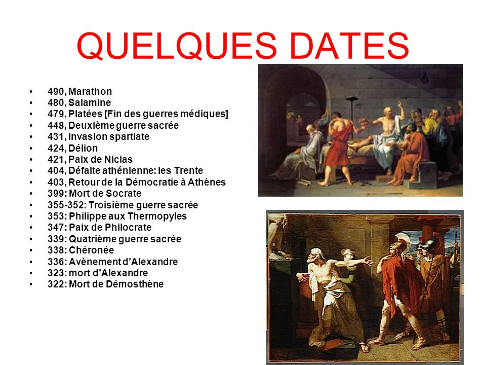 QUELQUES DATES 490, Marathon 480, Salamine