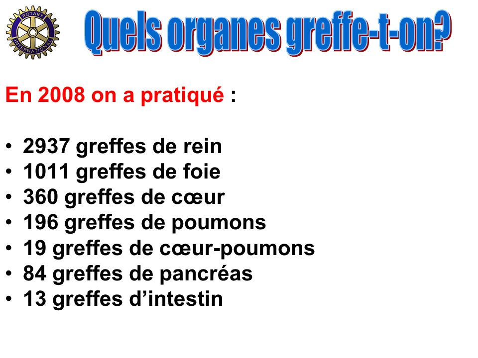 Quels organes greffe-t-on