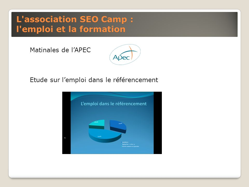 L association SEO Camp : l emploi et la formation