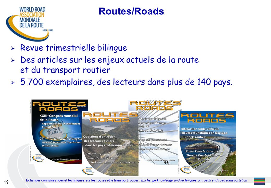Routes/Roads Revue trimestrielle bilingue
