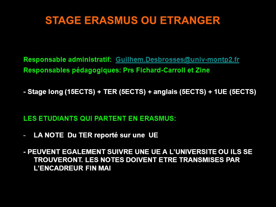 Presentation Generale Du Stage M1bs Ppt Telecharger