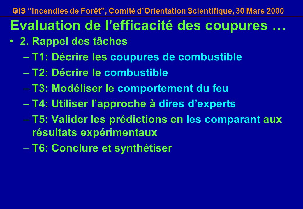 Evaluation de l'efficacité des coupures …