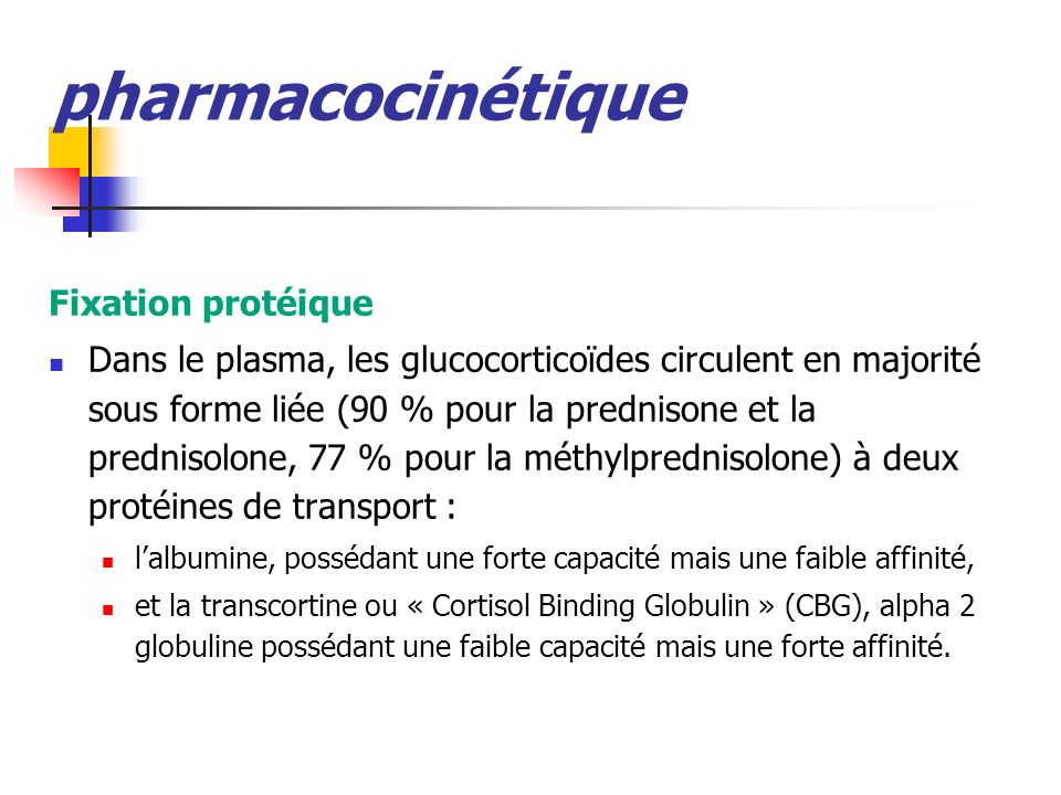 pharmacocinétique Fixation protéique
