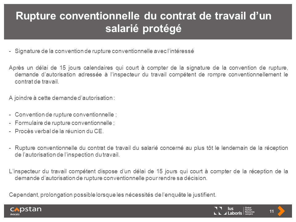 813c869883c Rupture conventionnelle du contrat de travail d un salarié protégé