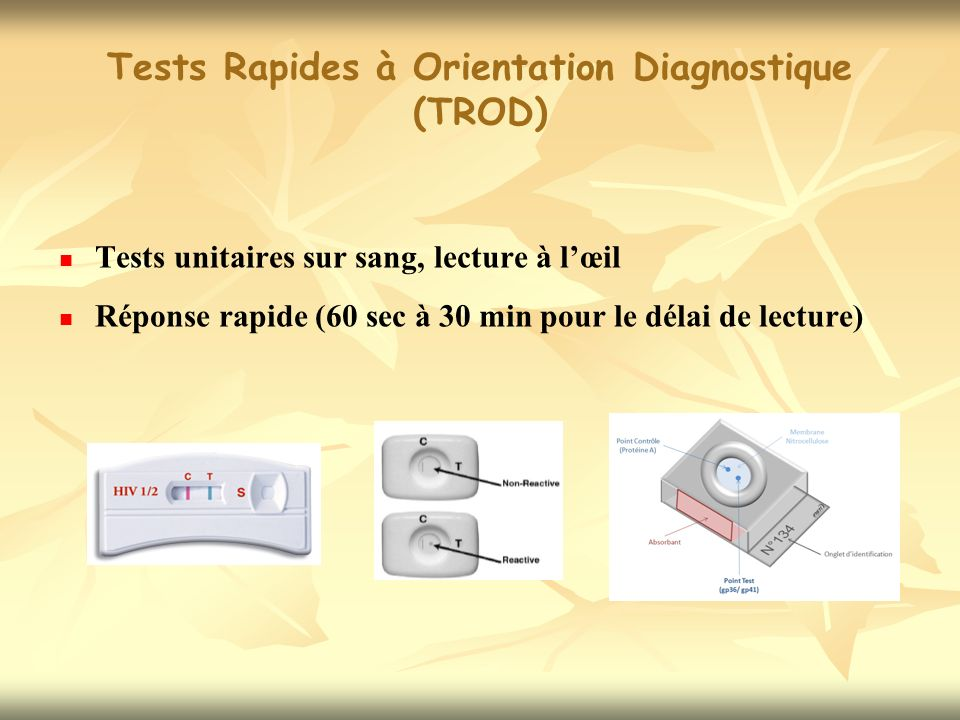 Tests Rapides à Orientation Diagnostique (TROD)
