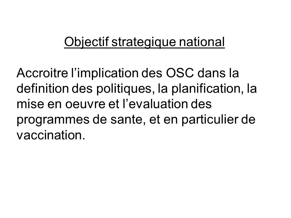 Objectif strategique national