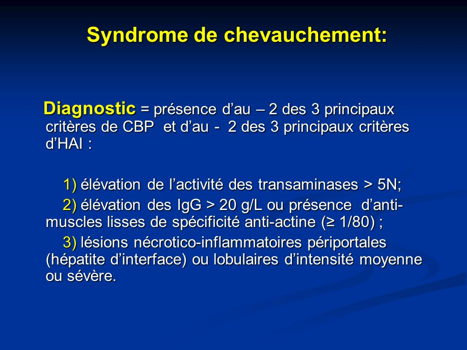 Syndrome de chevauchement: