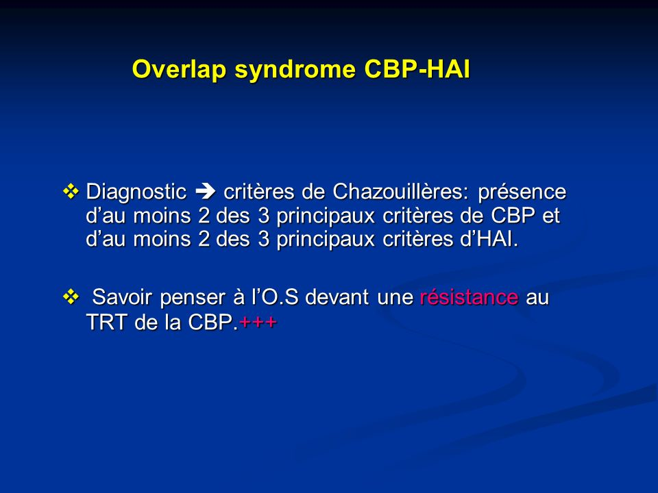 Overlap syndrome CBP-HAI