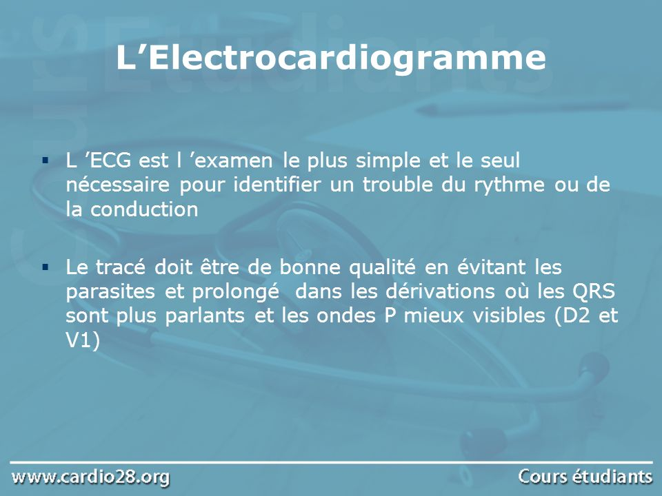 L'Electrocardiogramme