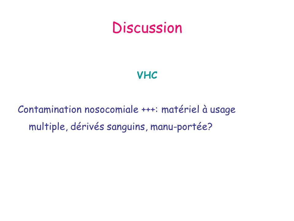 Discussion VHC.
