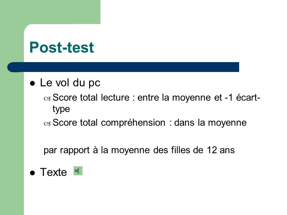Post-test Le vol du pc Texte