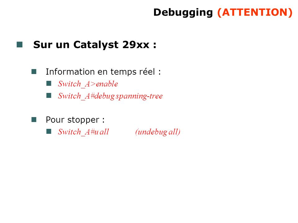 Debugging (ATTENTION)‏