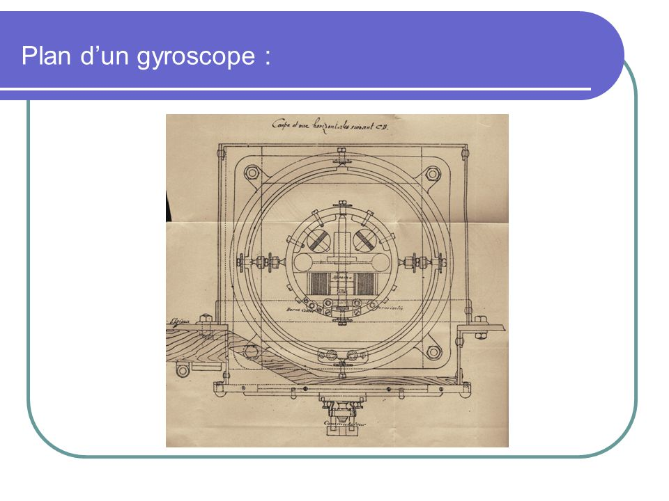 Plan d'un gyroscope :