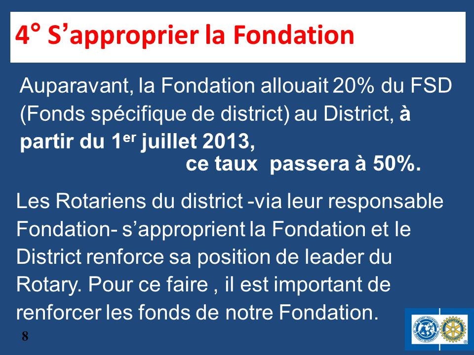 4° S'approprier la Fondation