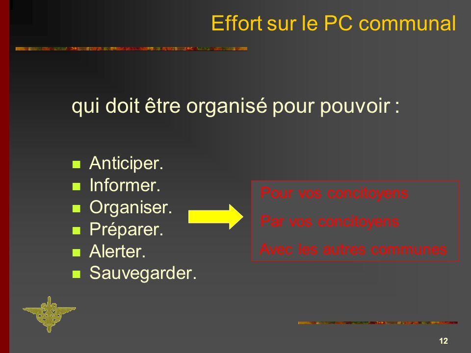 Effort sur le PC communal