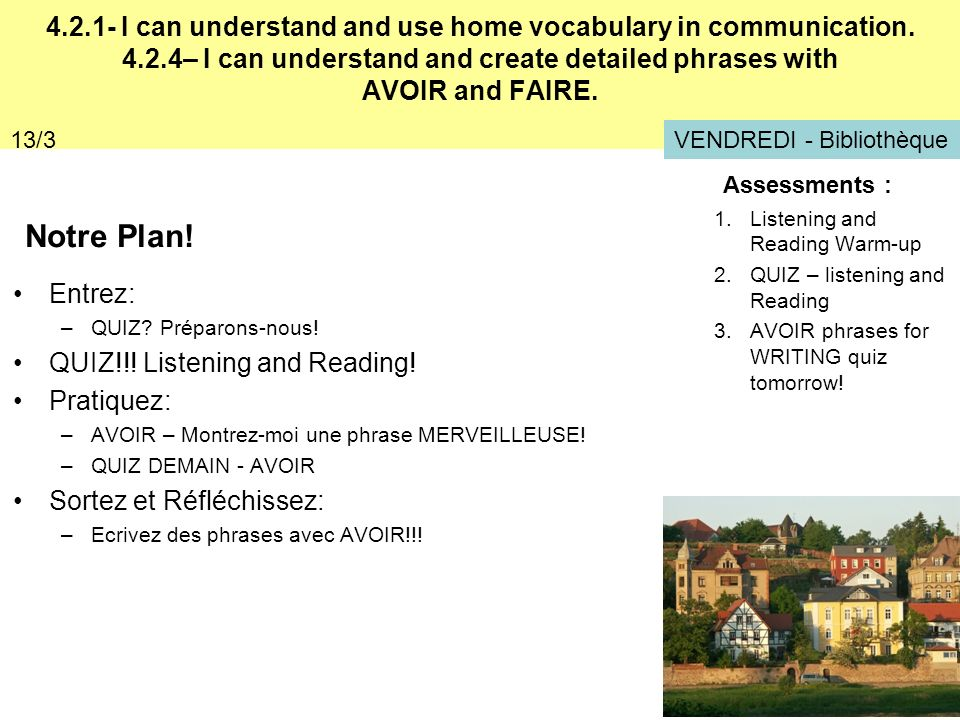 4. 2. 1- I can understand and use home vocabulary in communication. 4
