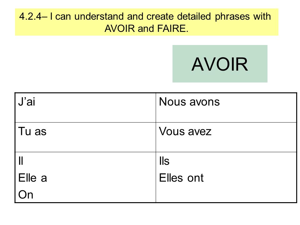 4.2.4– I can understand and create detailed phrases with