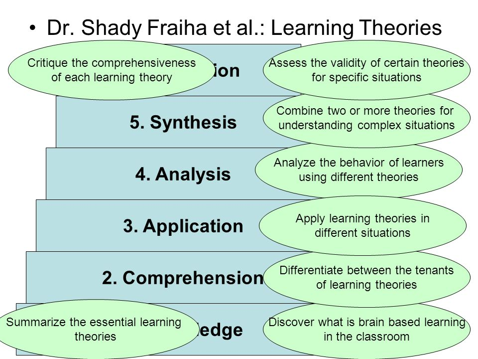 Dr. Shady Fraiha et al.: Learning Theories
