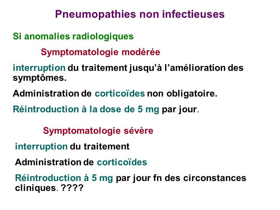 Pneumopathies non infectieuses
