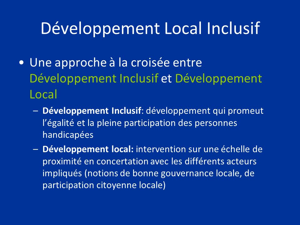 Développement Local Inclusif