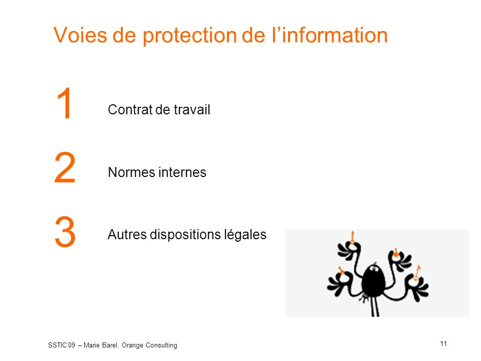 Voies de protection de l'information