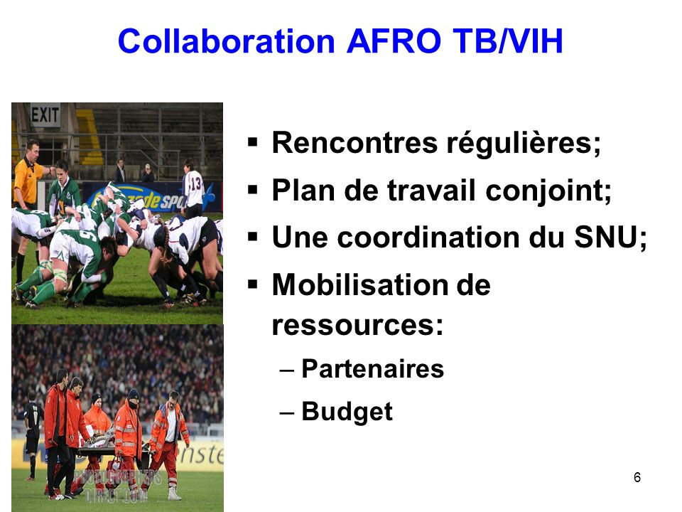 Collaboration AFRO TB/VIH