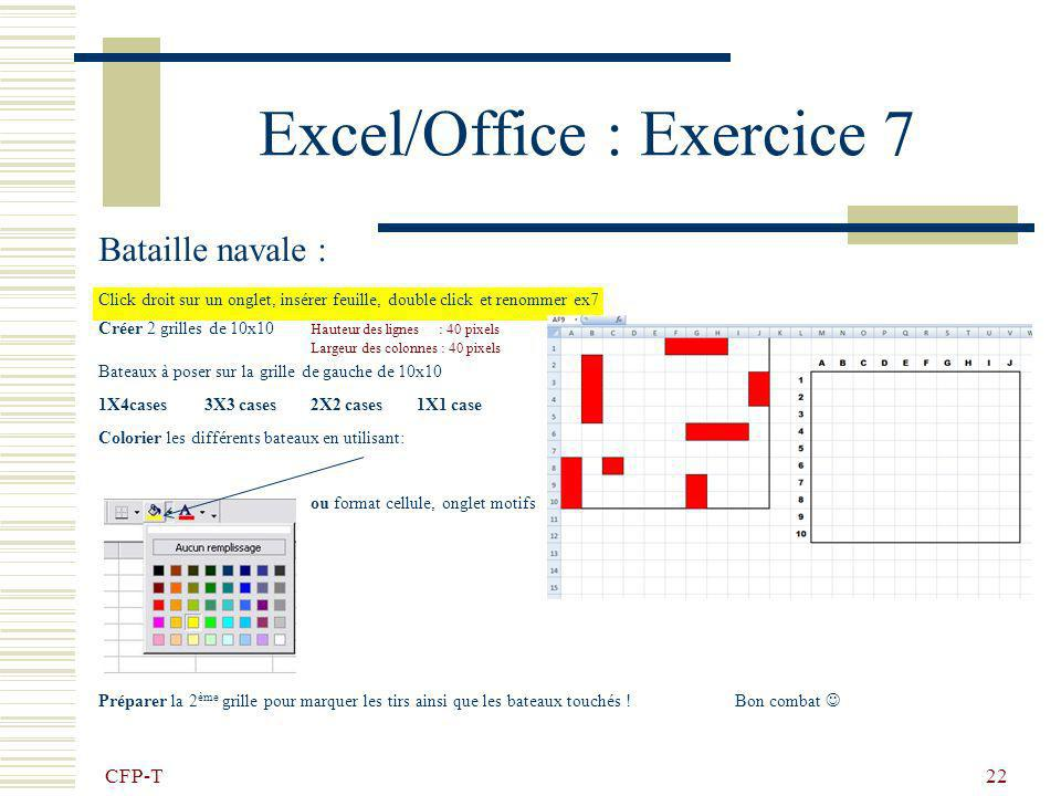 Excel/Office : Exercice 7