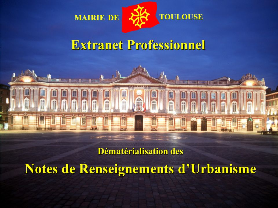 Extranet Professionnel Notes de Renseignements d'Urbanisme