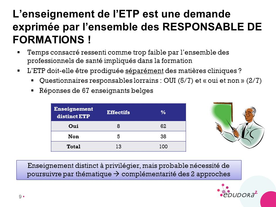 Enseignement distinct ETP