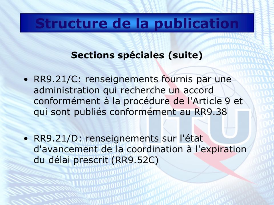 Structure de la publication