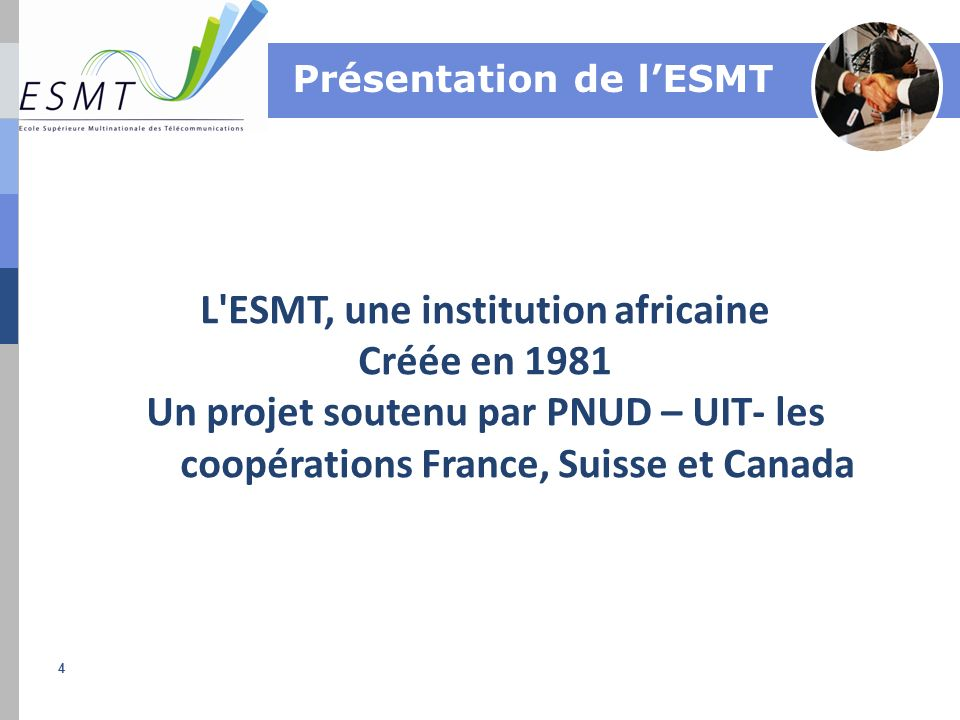 L ESMT, une institution africaine