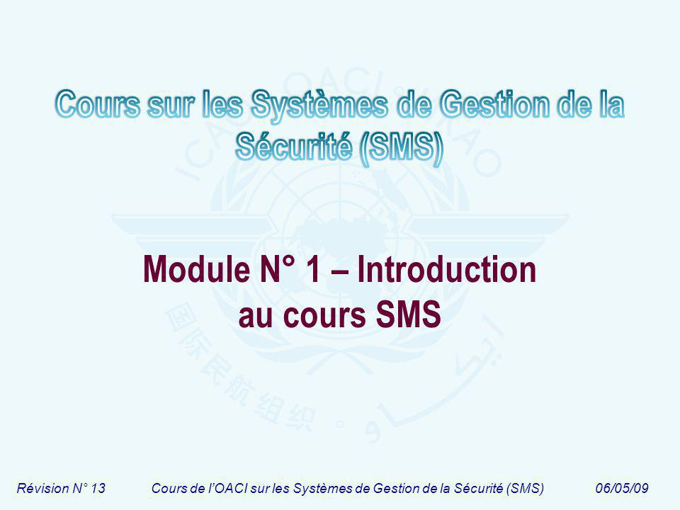 Module N° 1 – Introduction au cours SMS