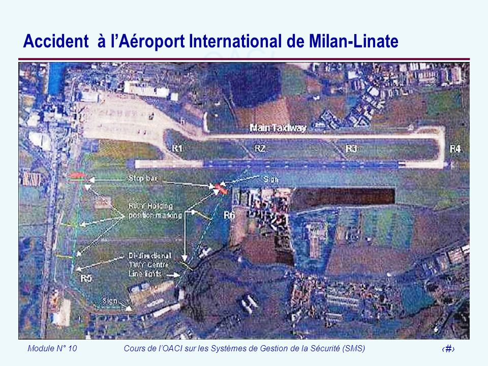 Accident à l'Aéroport International de Milan-Linate