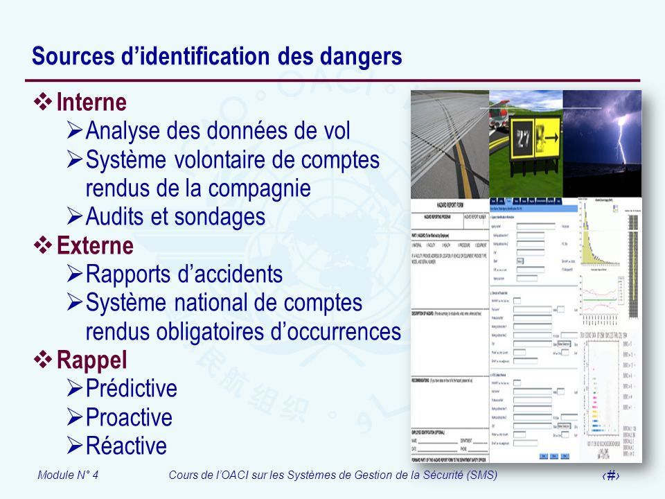 Sources d'identification des dangers