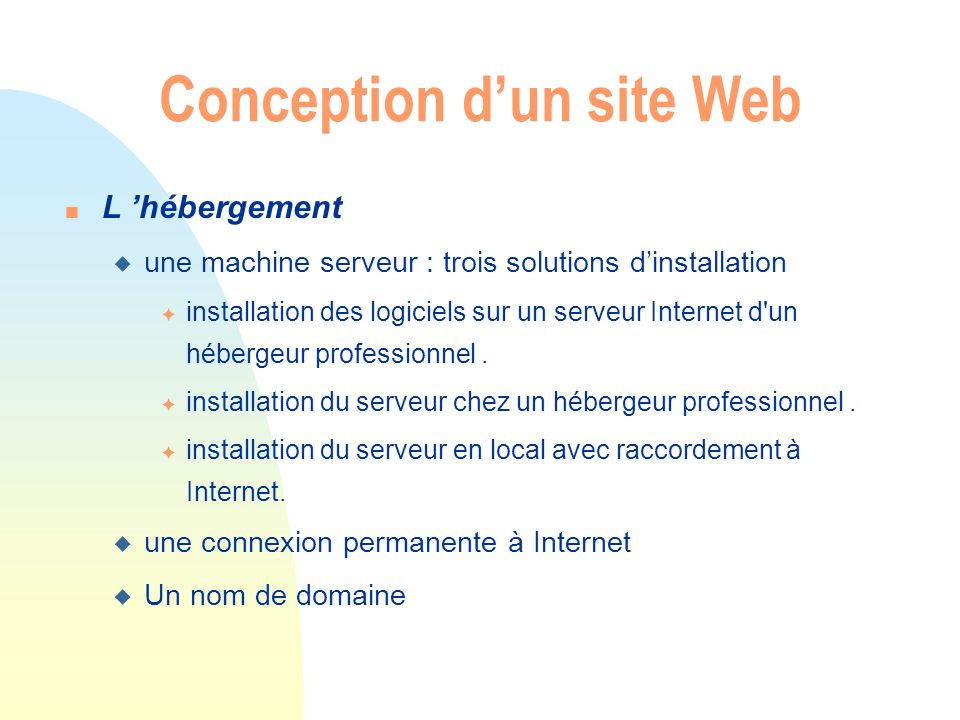 Conception d'un site Web